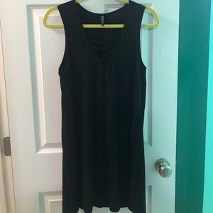 A black dress from Cotton On.