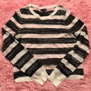 NWOT The Limited sheer black and white sweater