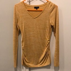 Yellow long sleeve V-Neck sweater from The Limited