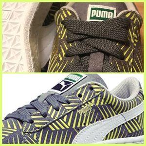 🤪🤪 Puma Suede Geofetti Jr Sneakers steel/lime🤪