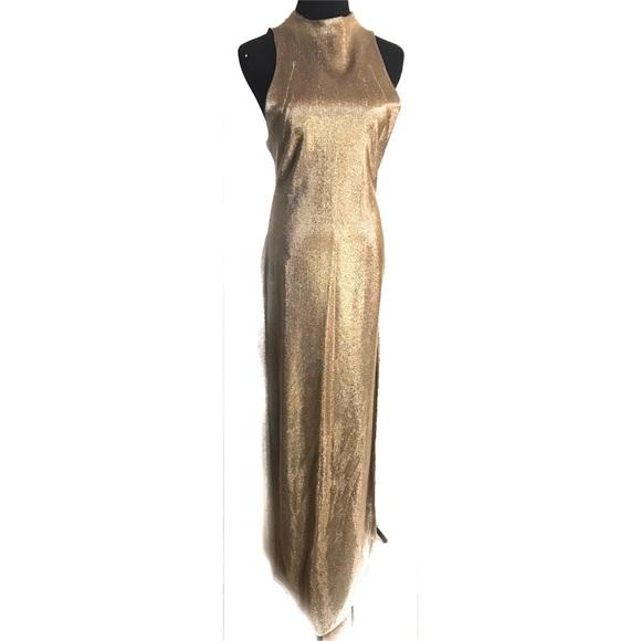 73d9469c98b Gorgeous 70 s vintage gold disco dress gown. M 5a2c8d2f4e8d17242a036aeb
