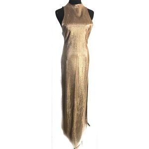 Gorgeous 70's vintage gold disco dress gown