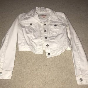 Jackets & Blazers - White jean jacket size medium