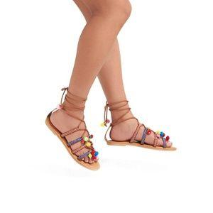 Mossimo gladiator pom pom sandals