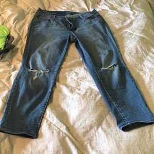 A.n.a. 18W Skinny Ankle Distressed Jeans