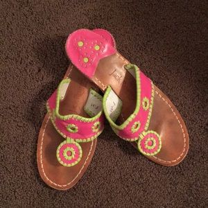 Pink & Green Jack Rogers