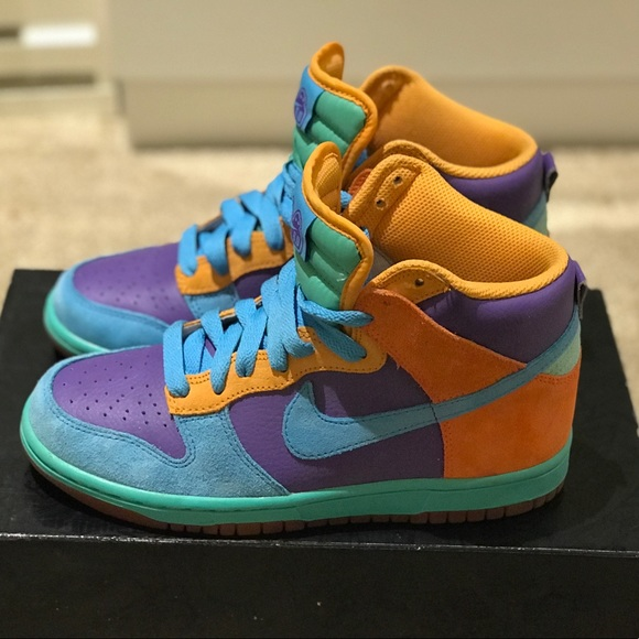 detailed look 38010 a8694 Rare Women s Nike Dunk 6.0 Multi Colored High Top