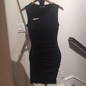 Short black asymmetric dress
