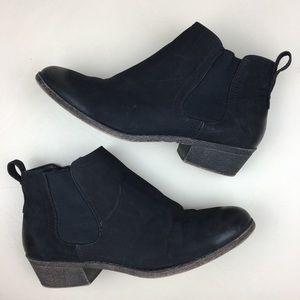 Merona Black Ankle Booties Side Zip Size 8