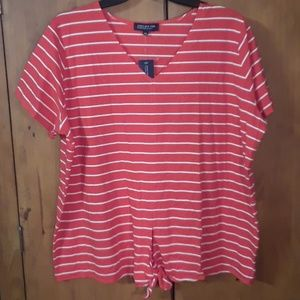Jones New York V Neck Blouse