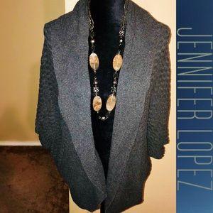 Jennifer Lopez Knit Shawl Cocoon Open Cardigan