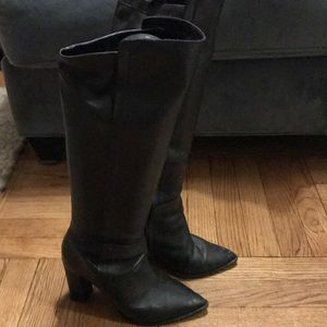 Tall Loeffler Randall high healed leather boots