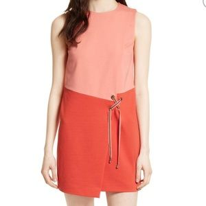 NWT💕Ted Baker Mivis Colorblock Crossover Dress