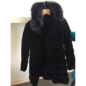 Long Velvet Winter Coat