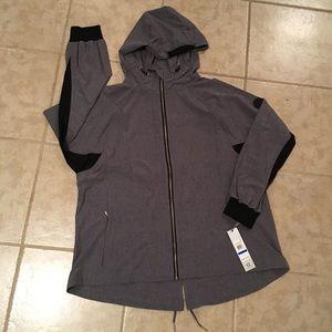 Calvin Klein Performance Gray Hooded Jacket New XL