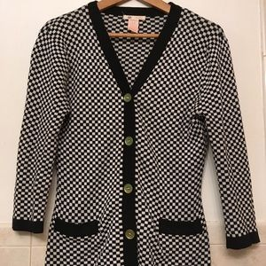 Checkered Tulle cardigan