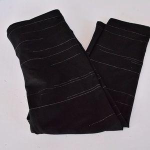 Fabletics Medium Black Stripe Crops Leggings