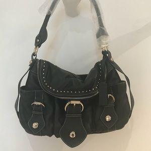 Designer direct. Aqua Madonna leather bag!