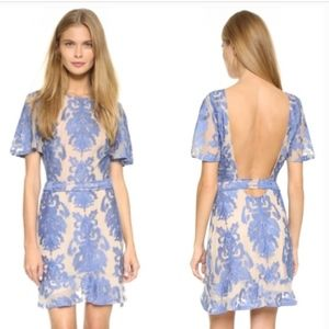 For Love and Lemons San Marco Blue Lace Dress