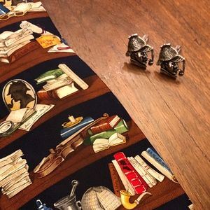 Other - Sherlock Holmes Cuff Links and Tie
