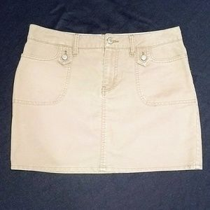 Old Navy ultra low waist khaki skirt