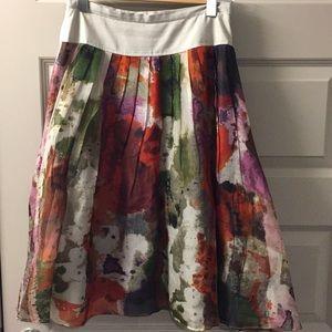 Anthropologie watercolor skirt