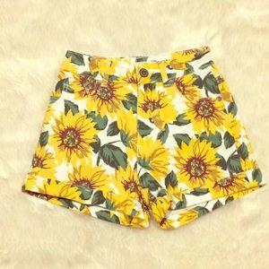 Bullhead Sunflower Print Mom Short Women's Size 0