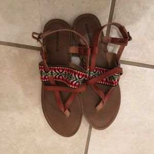 Colorful scrappy sandals