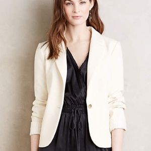 Anthropologie Cartonnier off white blazer jacket