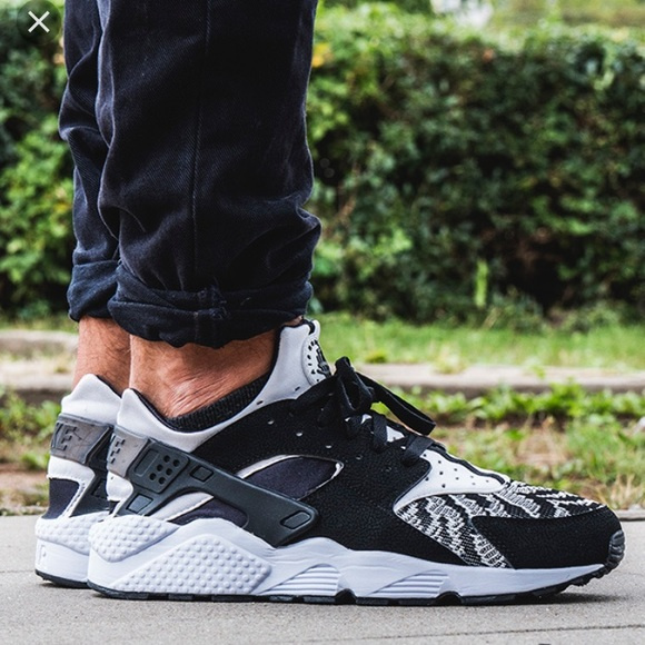 Nike Air Huarache Trainers Zebra Knit 705008-011 494ab9621