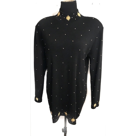 Vintage Sweaters - Classy vintage sweater with gold studs