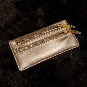 Bronze leather wallet