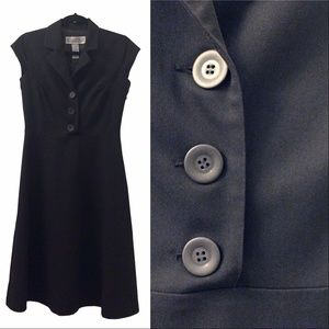 Jessica Howard little black dress w/ button top