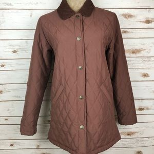 Lilly Pulitzer Quilted Coat Jacket Brown Winter