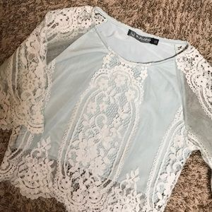 For love & lemons lace top