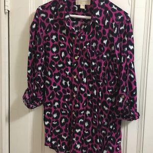 Michael Kors leopard print blouse