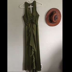 Kay Unger green silk gown size 10