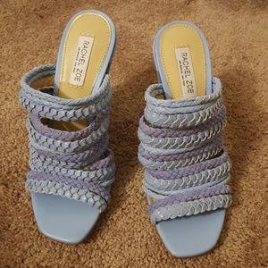 Rachel Zoe Periwinkle Braided Strappy Heels