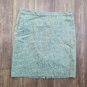 Talbots Mixed Print Skirt - Size  16