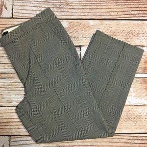 J. Crew windowpane / plaid cropped dress pants