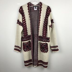 [BCBG Max Azria] Knit Cardigan Sweater Duster Coat