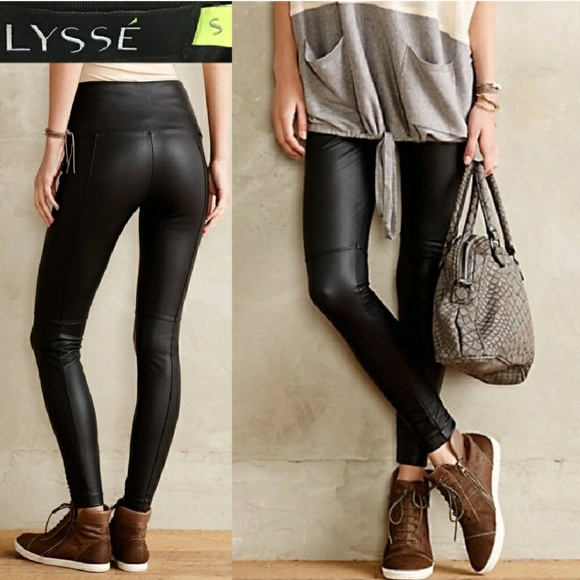 3268be58f785b0 Lysse Pants   Lyse Faux Leather Leggings In Euc   Poshmark