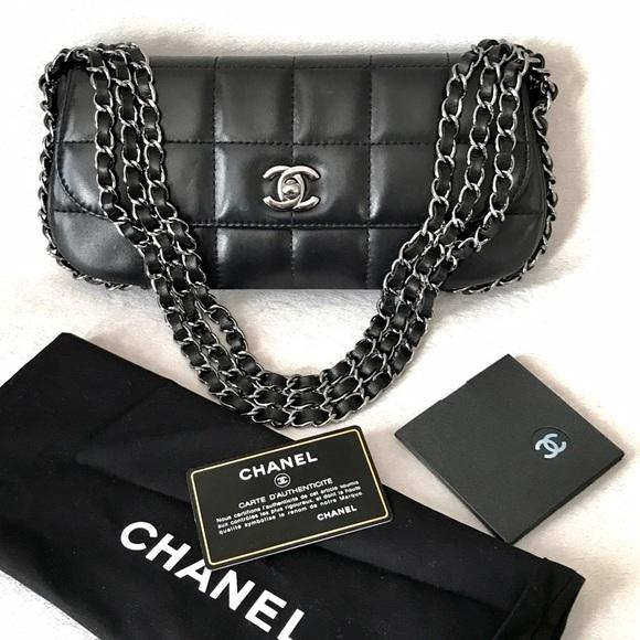 CHANEL Handbags - CHANEL Black Square Quilt Multichain Mini Flapbag 50bc9f9235e0f