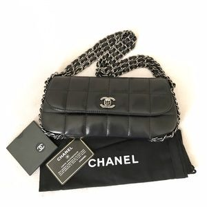 e4a538fd8c9c0e CHANEL Bags   Black Square Quilt Multichain Mini Flapbag   Poshmark