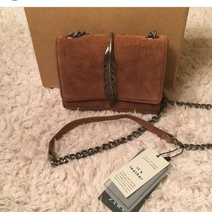 NWOT Zara leather crossbody bag!
