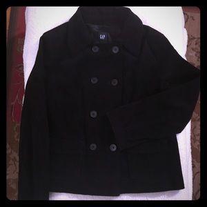 Gap black corduroy double breasted jacket