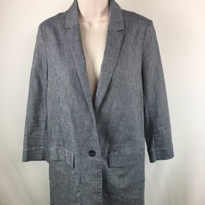 Anthropologie Cartonnier Long Blazer Jacket XS