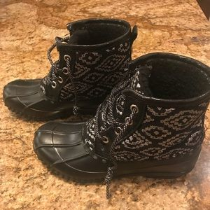 Girls Black Justice Boots