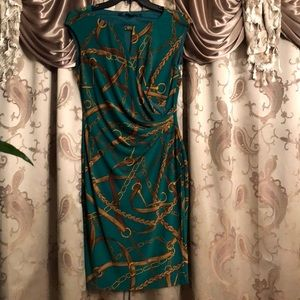 Lauren by Ralph Lauren chain pattern dress