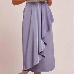 🆕 Anthropologie Lavender Cascade Ruffled Skirt